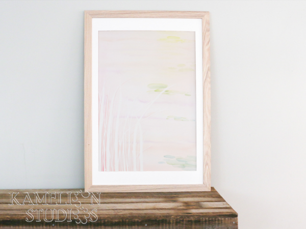 Pastel abstract watercolour art by Kamelion Studios