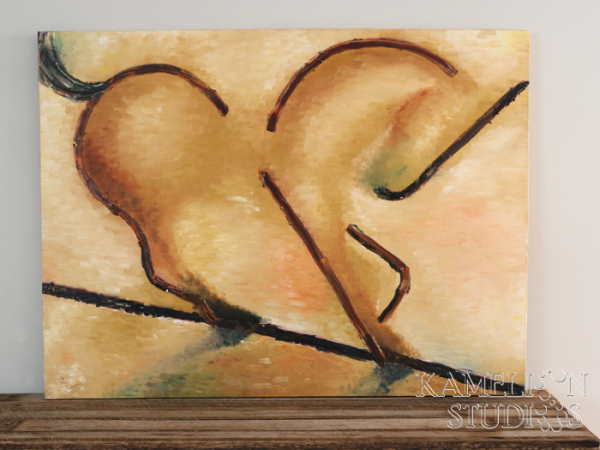 Large abstract painting of a horse by Kamelion Studios