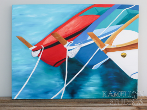 Three wooden fishing boats by Kamelion Studios