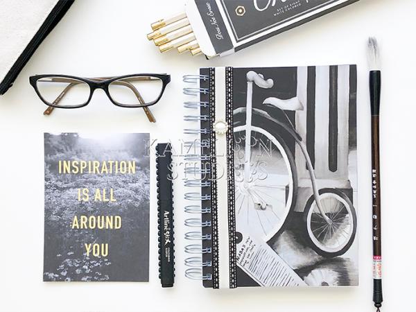A5 sprial bound notebook by Kamelion Studios