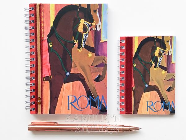 Italy travel diary notebook by Kamelion Studios
