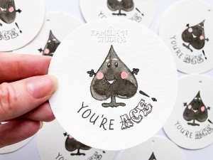 You're Ace illustrated Ace of Spades gift tag by Kamelion Studios