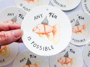 Goldfish gift tag Kamelion Studios