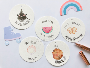 Hand Illustrated Watercolour Gift tags by Kamelion Studios