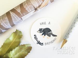 Tasmanian Devil funny gift tag by Kamelion Studios