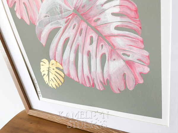 Tropical Monstera Leaf artwork by Kamelion Studios