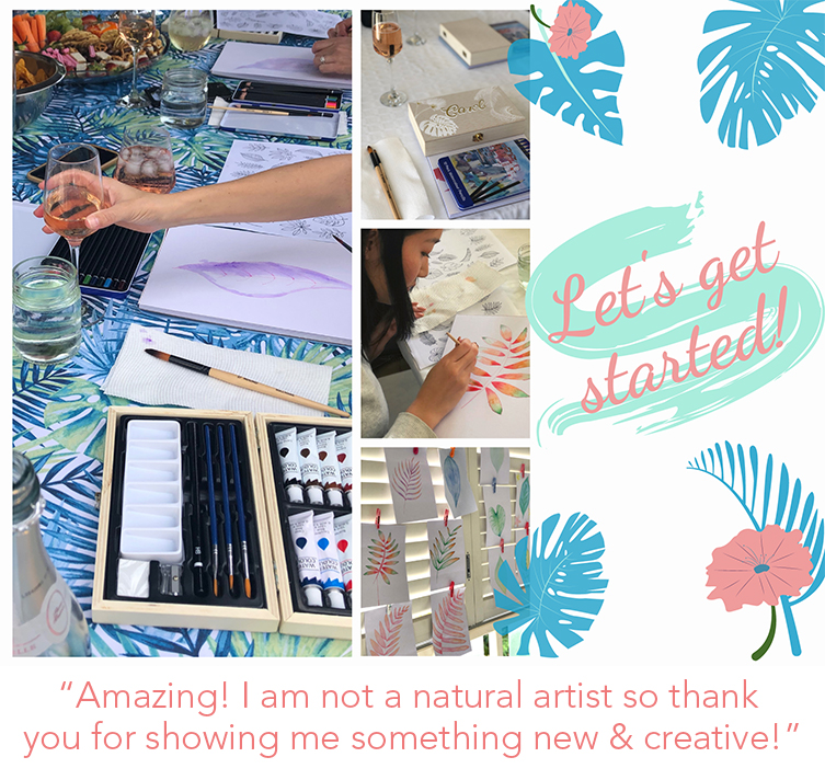 Host your own Paint and Sip workshop Brisbane to Byron
